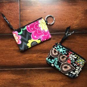 Vera Bradley ID case and coin purse